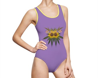 Sol (Purps) Women's Classic One-Piece Swimsuit