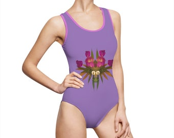 Viral (Purps) Women's Classic One-Piece Swimsuit