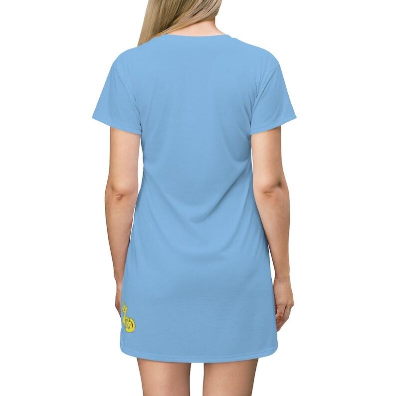Viral Sky Logo All Over Print T-Shirt Dress