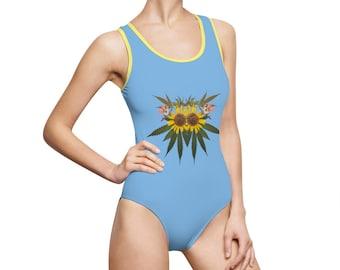 Sol (Sky) Women's Classic One-Piece Swimsuit