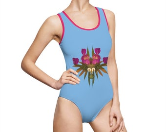 Viral (Sky) Women's Classic One-Piece Swimsuit