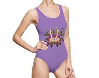 Fungeyes (Purps) Women's Classic One-Piece Swimsuit