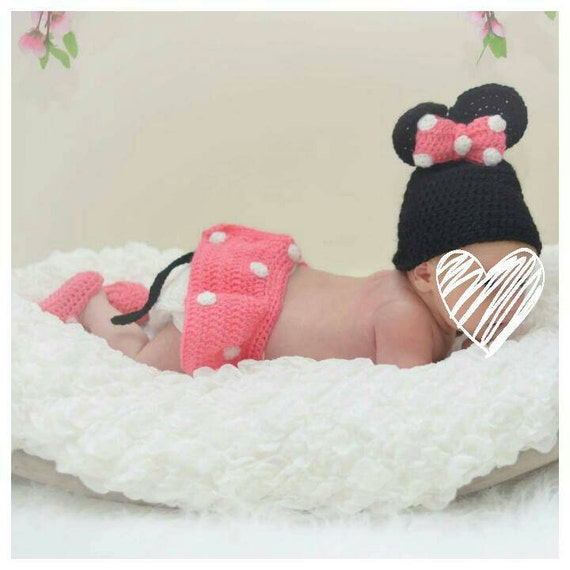 Newborn girl photo outfit Minnie mouse costume baby girl | Etsy