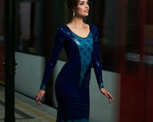 Blue Latex Dress