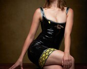 Latex Art Deco Dress