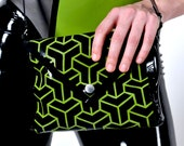 Latex black and green bag