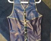 Latex Man's Gilet and Necktie