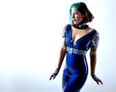 Blue Latex Dress and Belt