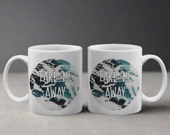 Take me away mug   Etsy