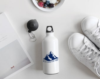 Collect Moments Not Things Inspirational Motivational Quote Mountains Water Bottle, Satiric Gift, Funny Gift, AB186