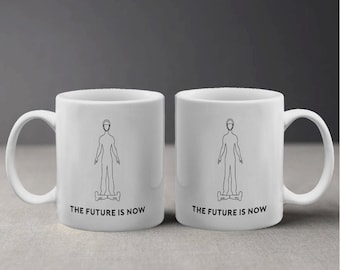 The Future is now Swegway Hoverboard Illustration Design Mug M1120