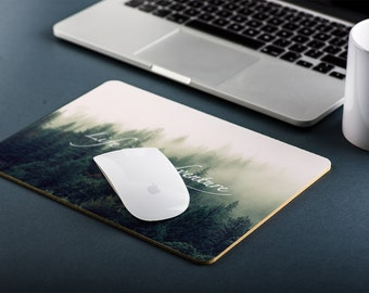 Life is an Adventure Wanderlust Mountain Motivational Inspirational Pine Trees Mouse Mat, Mouse Pad, Mousepad, Gift Ideas, MM191