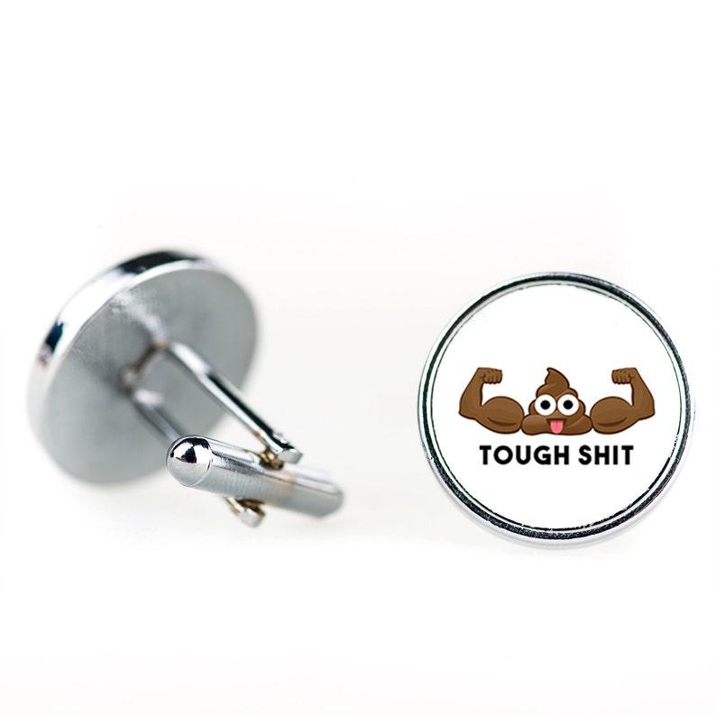 Funny Gifts Gift Ideas CL004 Poo Emoji Cufflinks Custom Tough S Poop Emoji Cufflinks Gifts for Him Cufflinks Silver