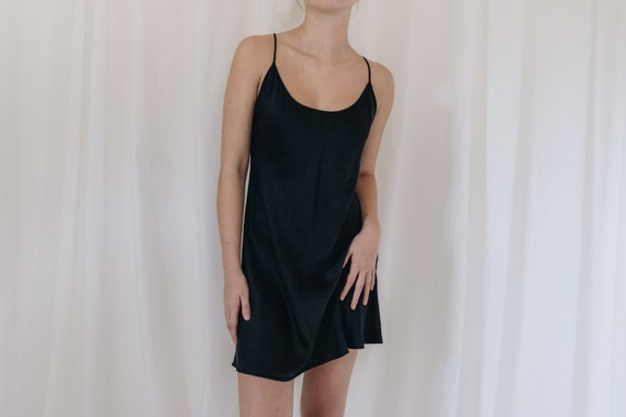 Silk Black Slip Dress