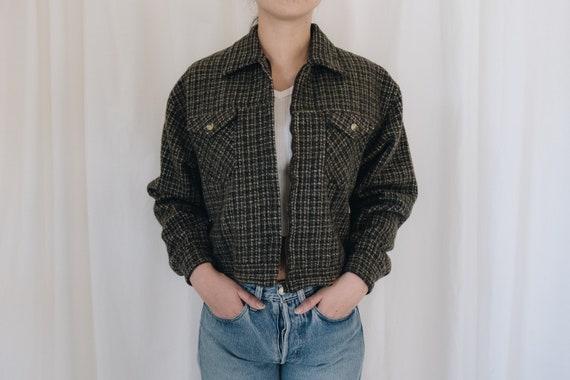 Wool Tweed Cropped Jacket