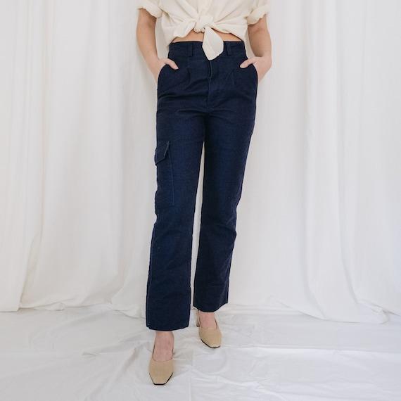 Cotton Navy Workwear Cargo Pants
