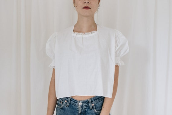 Antique White Puff Sleeve Top