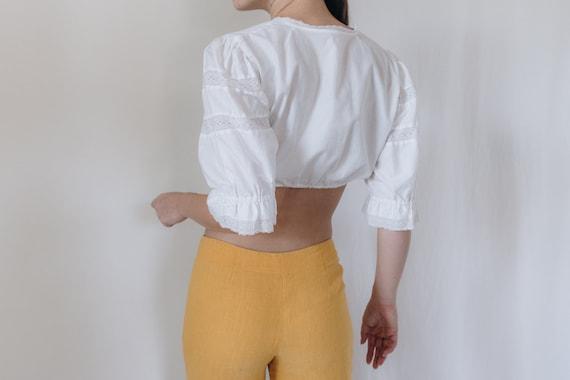 1990s Linen Mid Rise Marigold Pants - image 5