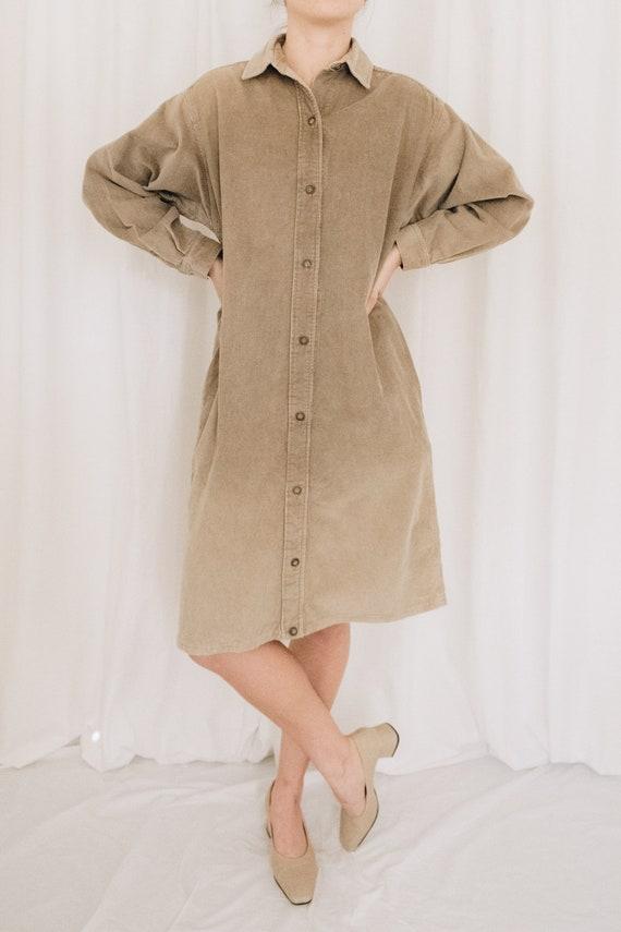 Calvin Klein Corduroy Shirt Dress