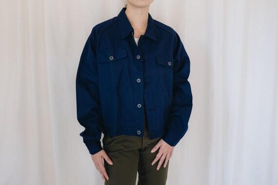 Cotton Dark Blue Workwear Chore Jacket