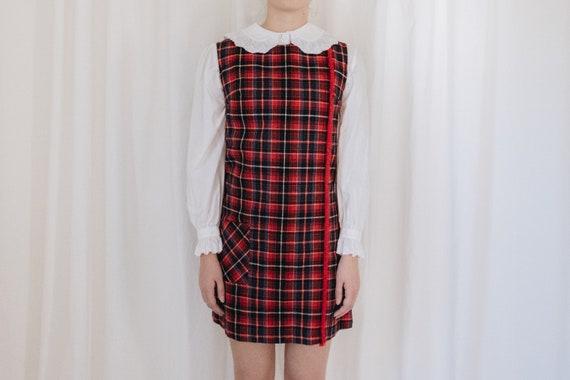 Sleeveless Tartan Dress