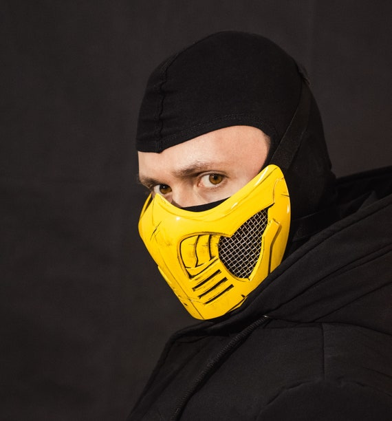 Mortal Kombat X Scorpion Mask Etsy