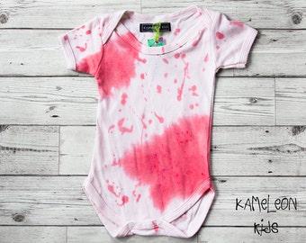 9c96b51fc Little Dexter Babygrow-Pink Splattered Baby Grow; Halloween Baby Outfit -  Halloween Baby Costume Horror Baby Boy Halloween Baby Girl Clothes