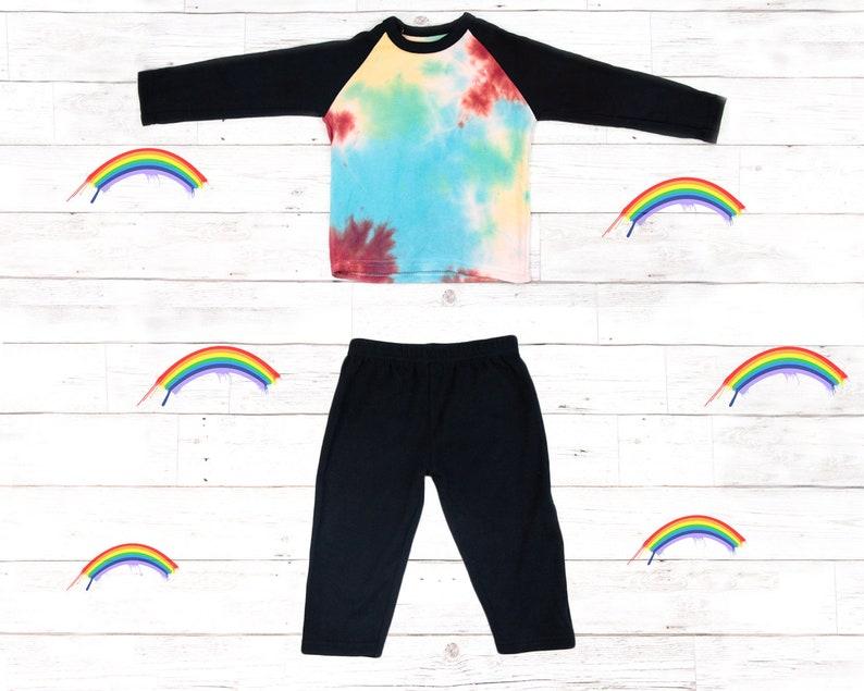 Tie Dye Baby Boys 100/% Cotton Unique PJs Babygrow Shower Rainbow Gift Present