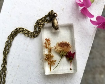 Presssed Wildflower Necklace