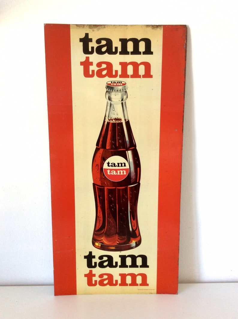 Authentic Large Tam Tam Cola Sign, Greek Soda Tin Sign, Greek Advertising  Sign, Vintage Metal Sign, Wall Decor