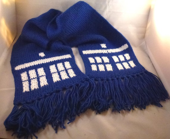 Windows Through Time Doctor Who Tardis Inspired Scarf Etsy
