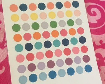 1/4 inch Colorful Mini Dot Planner Stickers  for use with Erin Condren Life Planner, Happy Planner, Kate Spade, Filofax.
