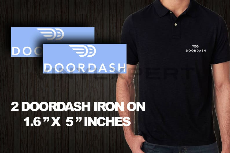 Doordash Diy Logos Iron On Heat Transfer T Shirt Polo Sweater Etsy