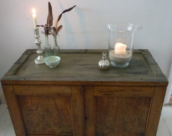SOLD ** Fantastic solid Chest/Cupboard/Officers box. Hand painted ANNIE SLOAN