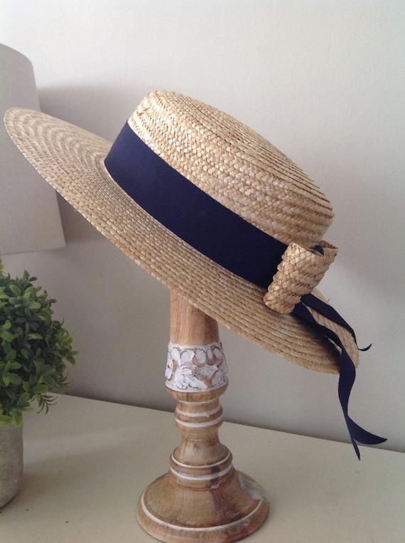 Rare, Laura Ashley hat, vintage hat, straw boater… - image 3