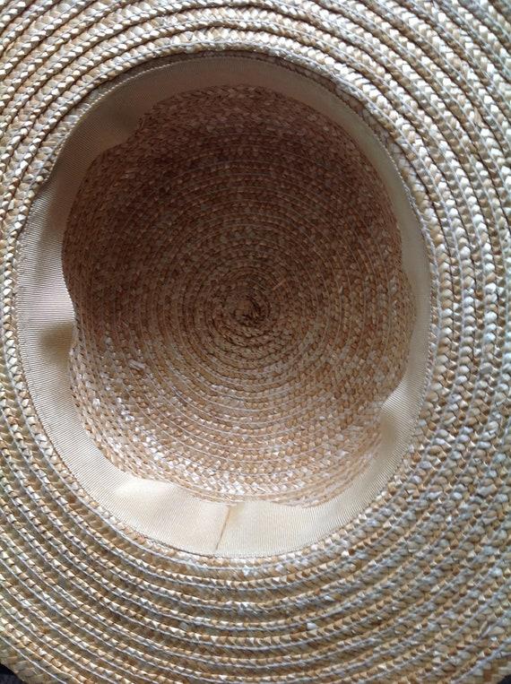 Rare, Laura Ashley hat, vintage hat, straw boater… - image 10