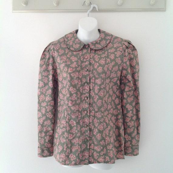 Laura Ashley blouse, vintage blouse, 80's clothing