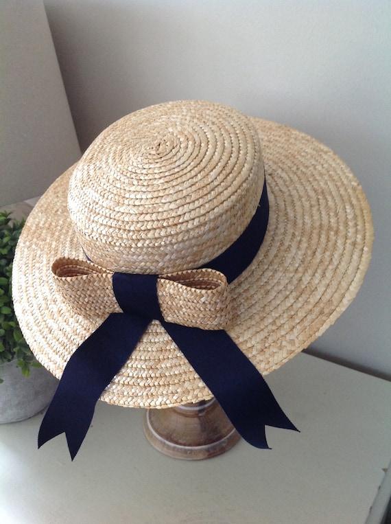 Rare, Laura Ashley hat, vintage hat, straw boater… - image 5