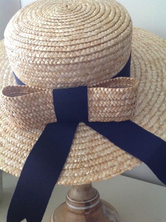 Rare, Laura Ashley hat, vintage hat, straw boater… - image 2