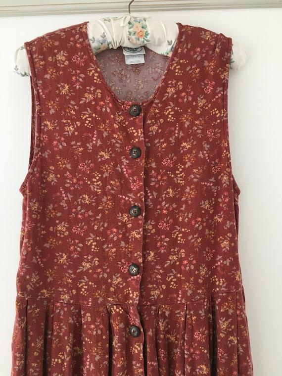 Vintage dress, Laura Ashley dress, 80's dress, pi… - image 4