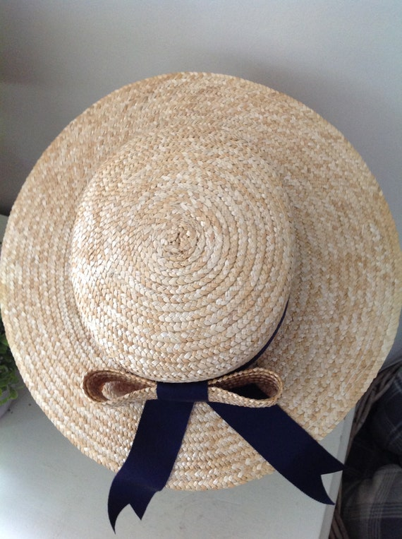 Rare, Laura Ashley hat, vintage hat, straw boater… - image 8