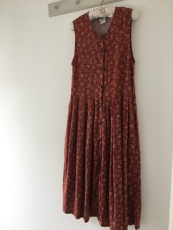 Vintage dress, Laura Ashley dress, 80's dress, pi… - image 8