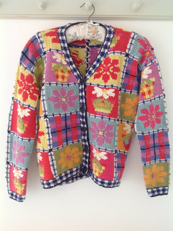 80's cardigan, vintage cardigan, ladies cardigan,