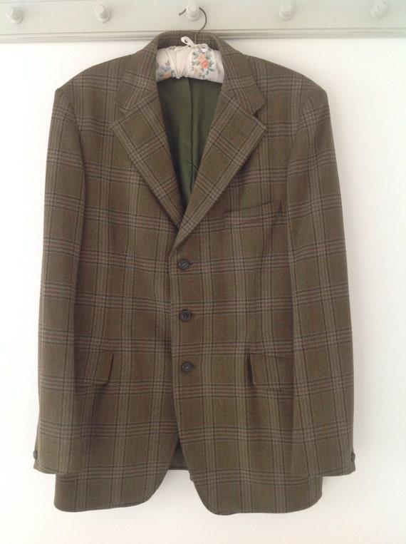 Tweed jacket, tailor made blazer, men's jacket, ta