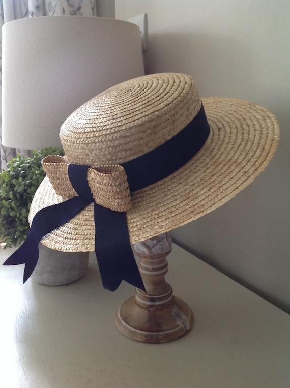 Rare, Laura Ashley hat, vintage hat, straw boater… - image 6