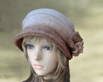 Felted wool hats, Womens felt hats, Ladies felted hat, Womens winter hats, Felt hats for lady, Cloche hat, Hats felt wool, Winter wool hats,