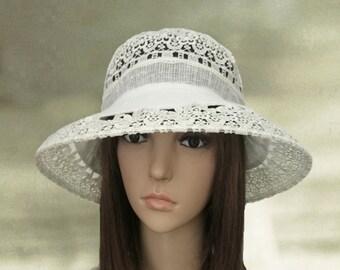 Womens suns hats, Floppy summer hats, Linen hats lady, Ladies hats linen, Wide brim hats sun, Sunhat womens, Sun hat large brim
