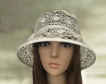 65ec5d8f Summer lace hats, Suns hats wide brim, Womens hats summer, Sun hat for  summer, Ladies cotton hats, Organic cotton hats, Sun hats lady linen
