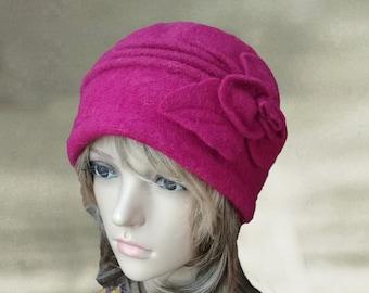 Womens winter hat, Felted wool hat, Womens felted hats, Felt wool beret, Womens warm hats, Warm winter beanie, Wool beanie hat, Hats wool