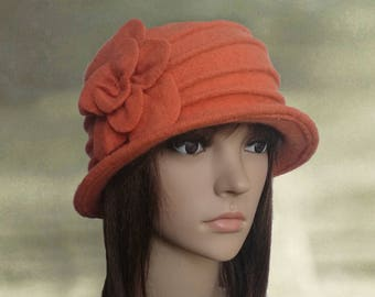 Felt cloche hats, Womens felt hats, Ladies felted hats, Womens winter hats, Wool felt hats, Wool cloche hats, Felted wool cloche, Felted hat